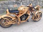 Деревянный мотоцикл сделанный в России