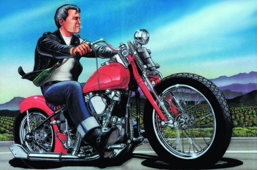 Дэвид Манн - легендарный мотохудожник