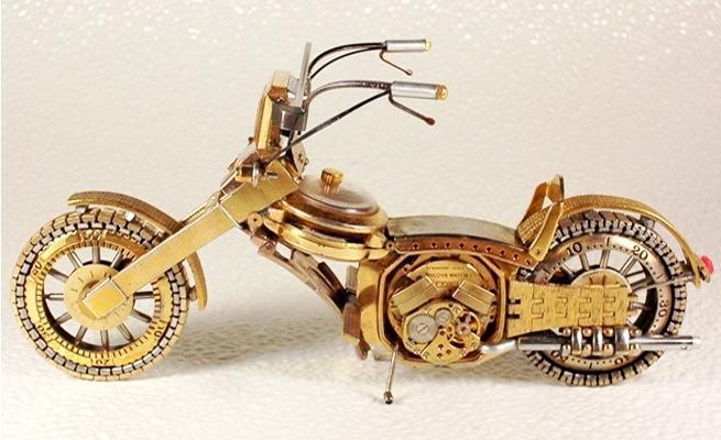 Мотоциклы из старых часов
