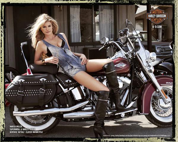 Мариса Миллер снялась для Harley Davidson