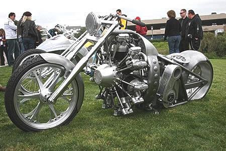 Мотоциклы с авиационными двигателями